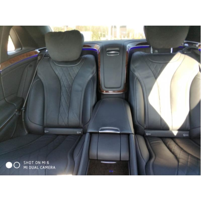 Аренда Mercedes S-Classe Maybach 2017 серый салон с водителем