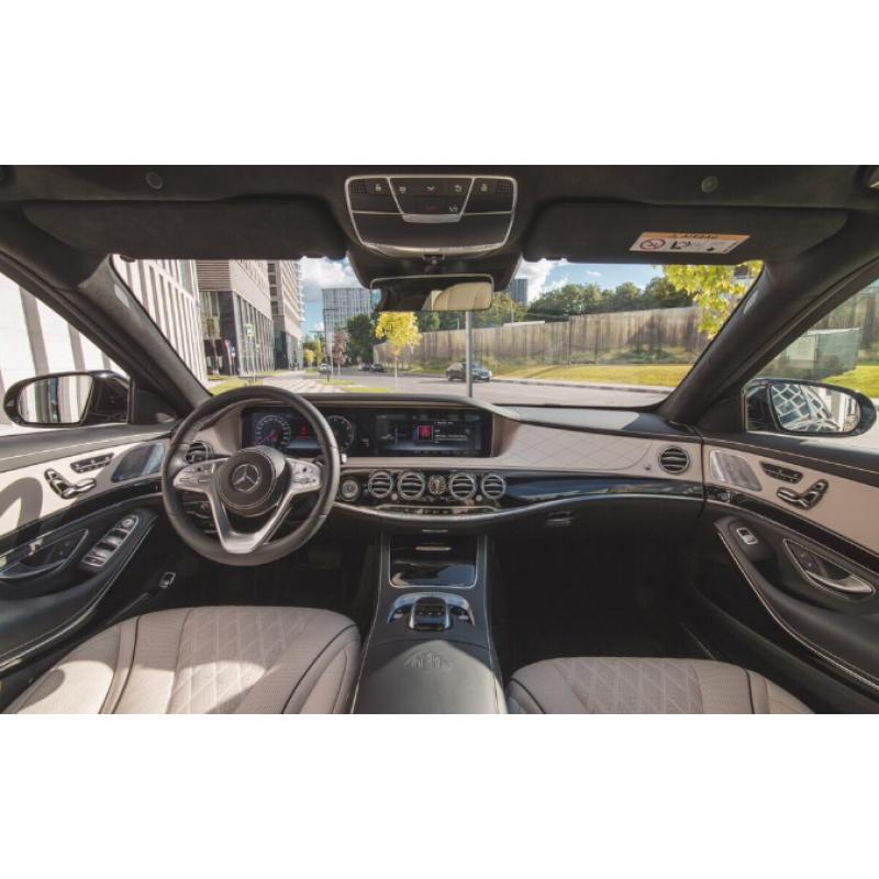 Аренда Mercedes S-Classe Maybach 2018 белый салон с водителем